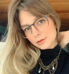 Armação De Óculos Redondo Degradê Analu