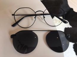 Armação De Óculos 2 Em 1 Clipon Kyle Redondo Preto