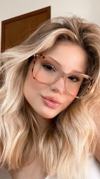 Armação Óculos de Grau Giselle Nude