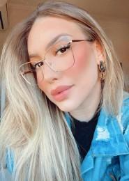 Armação De Óculos De Metal Helen Dourado E Cinza