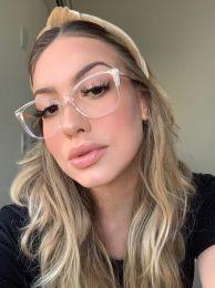 Óculos de Grau Quadrado Mayla Transparente