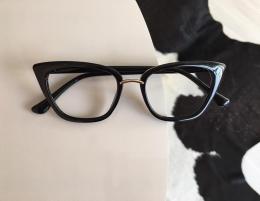 Armação Óculos de Grau Gatinho Luisa Preto