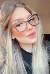 Armação Óculos de Grau Paula Azul
