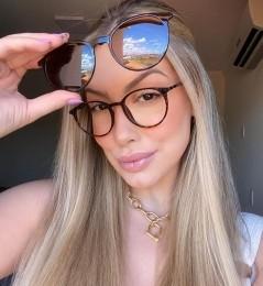Óculos Clipon 2 em 1 Manu Oncinha