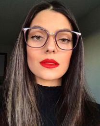 Óculos de Grau Quadrado Gabrielle Uva