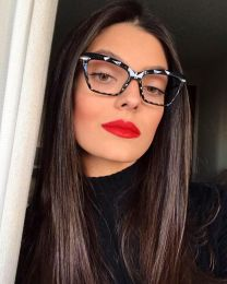 Armação De Óculos Gatinho Preto Nina