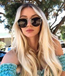 Óculos de sol Sandrine Preto com dourado