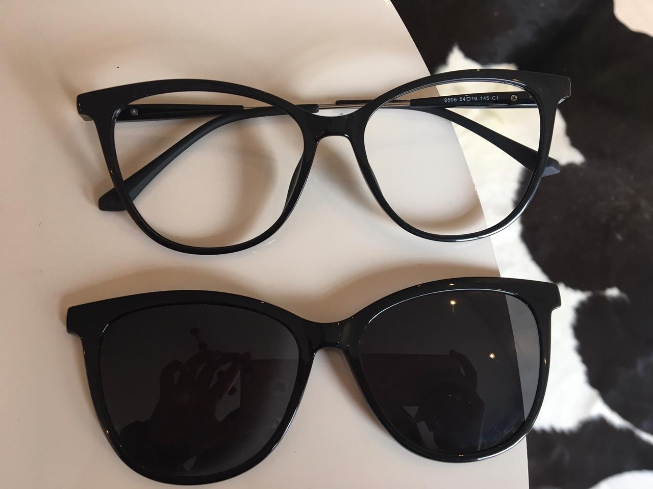 Armação de Óculos 2 em 1 Lorena Preto
