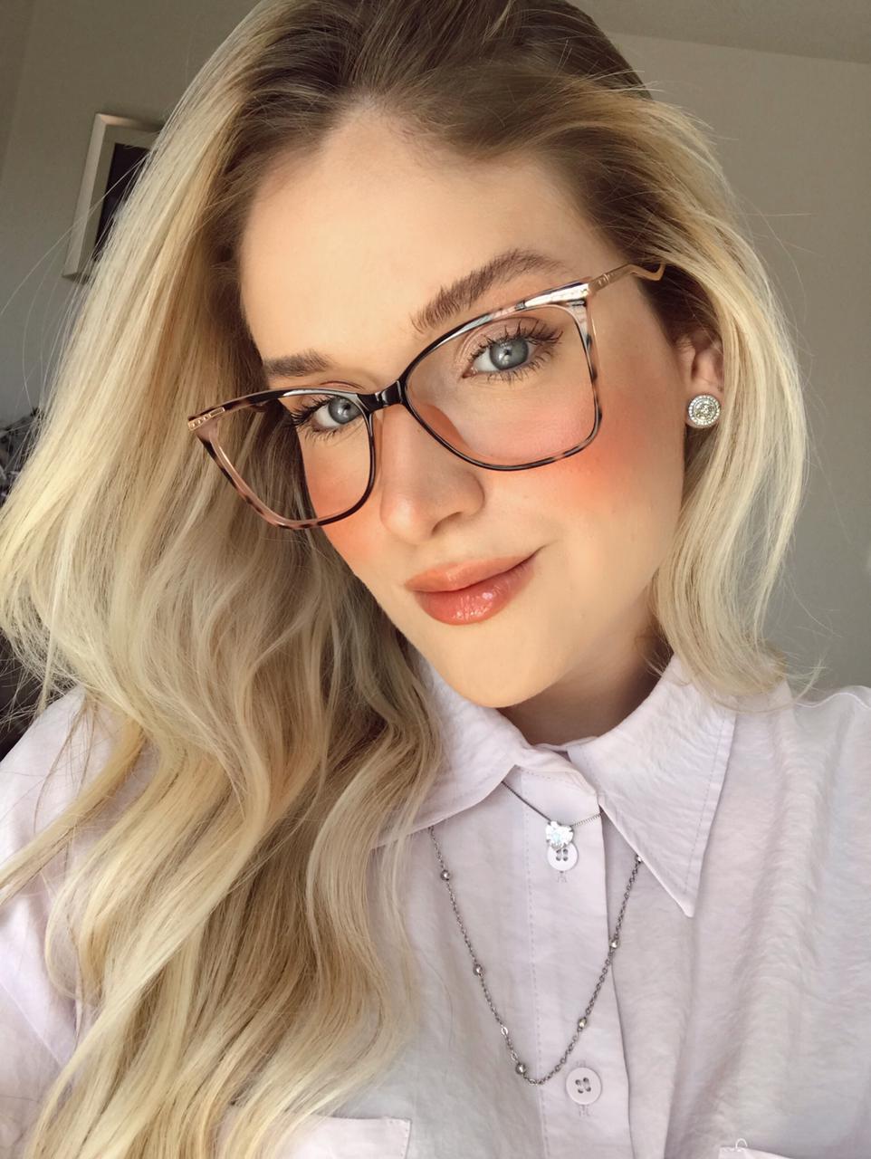 Armação De Óculos de Grau Helena Oncinha