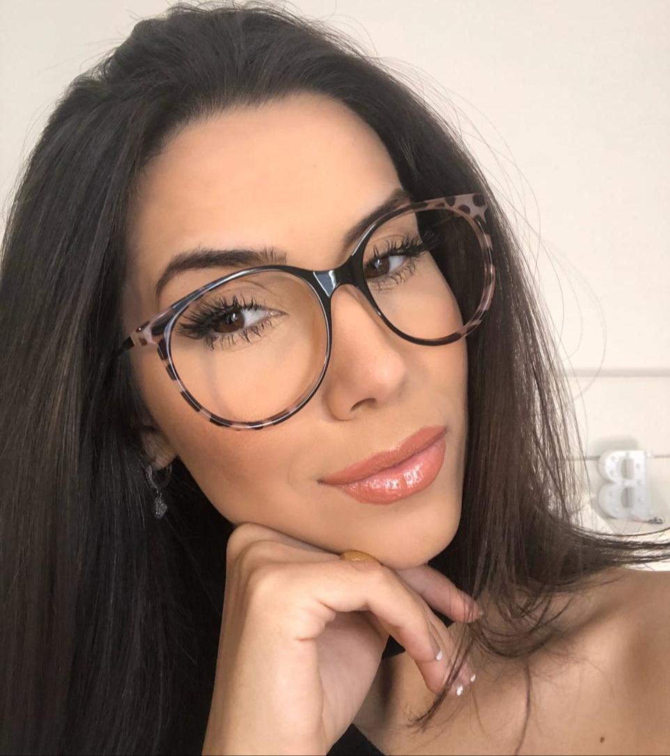 Armação Óculos de Grau Demi Oncinha