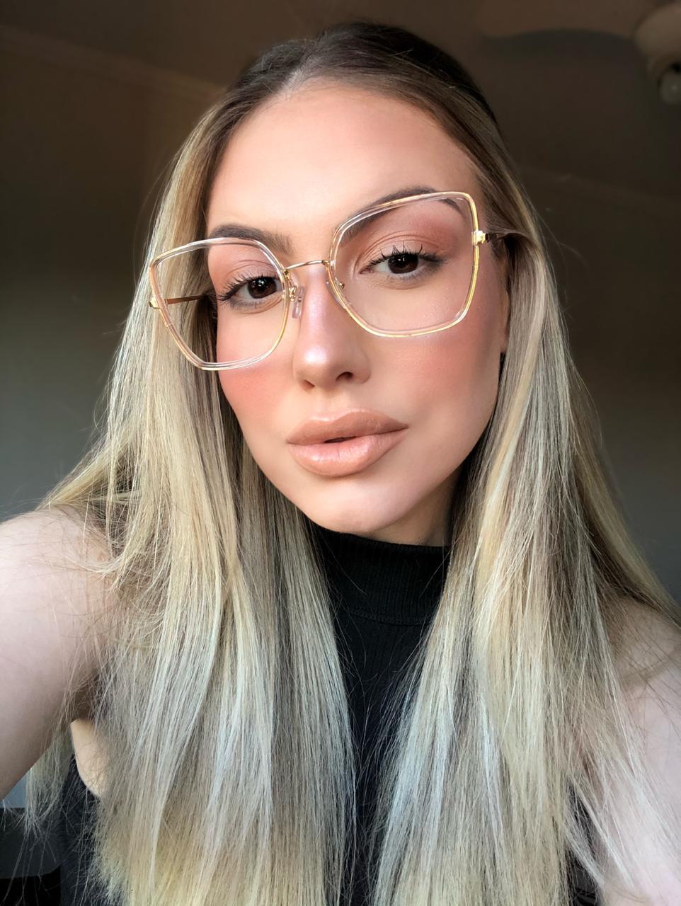 Armação Óculos de Grau Rafaela Transparente