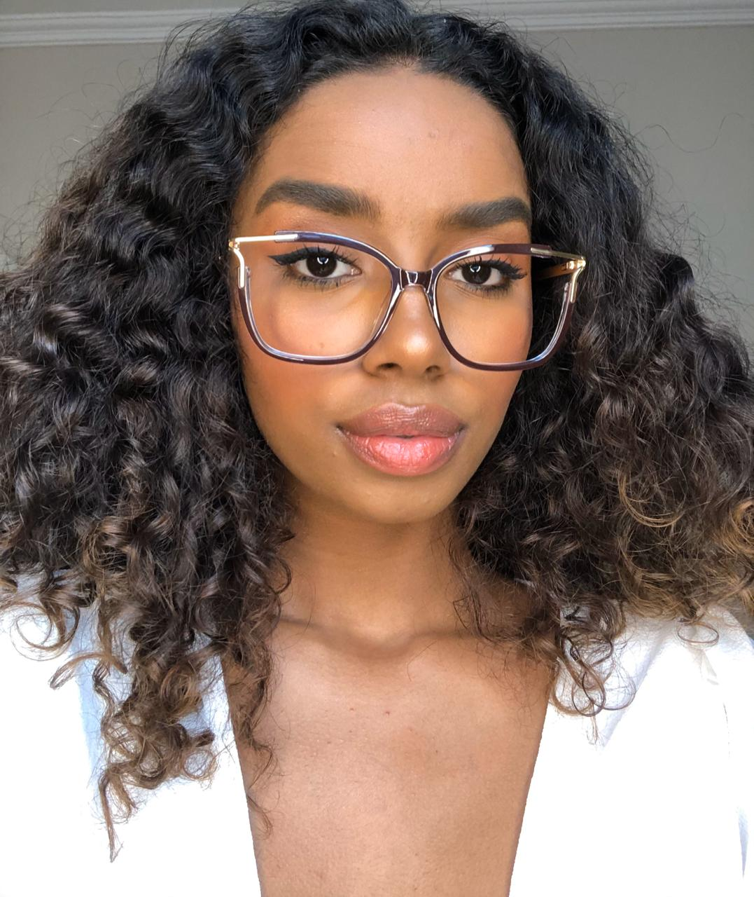 Armação Óculos de Grau Mirela Vermelho Queimado