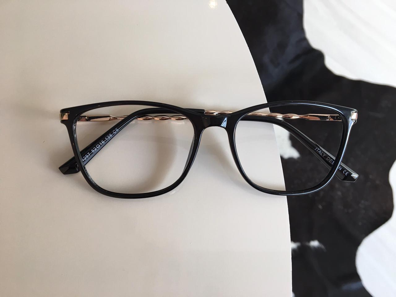 Armação Óculos de Grau Amália Preto