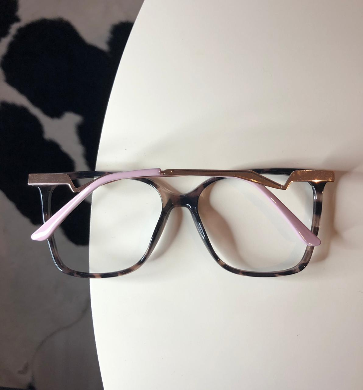 Armação Óculos de Grau Fabi Oncinha