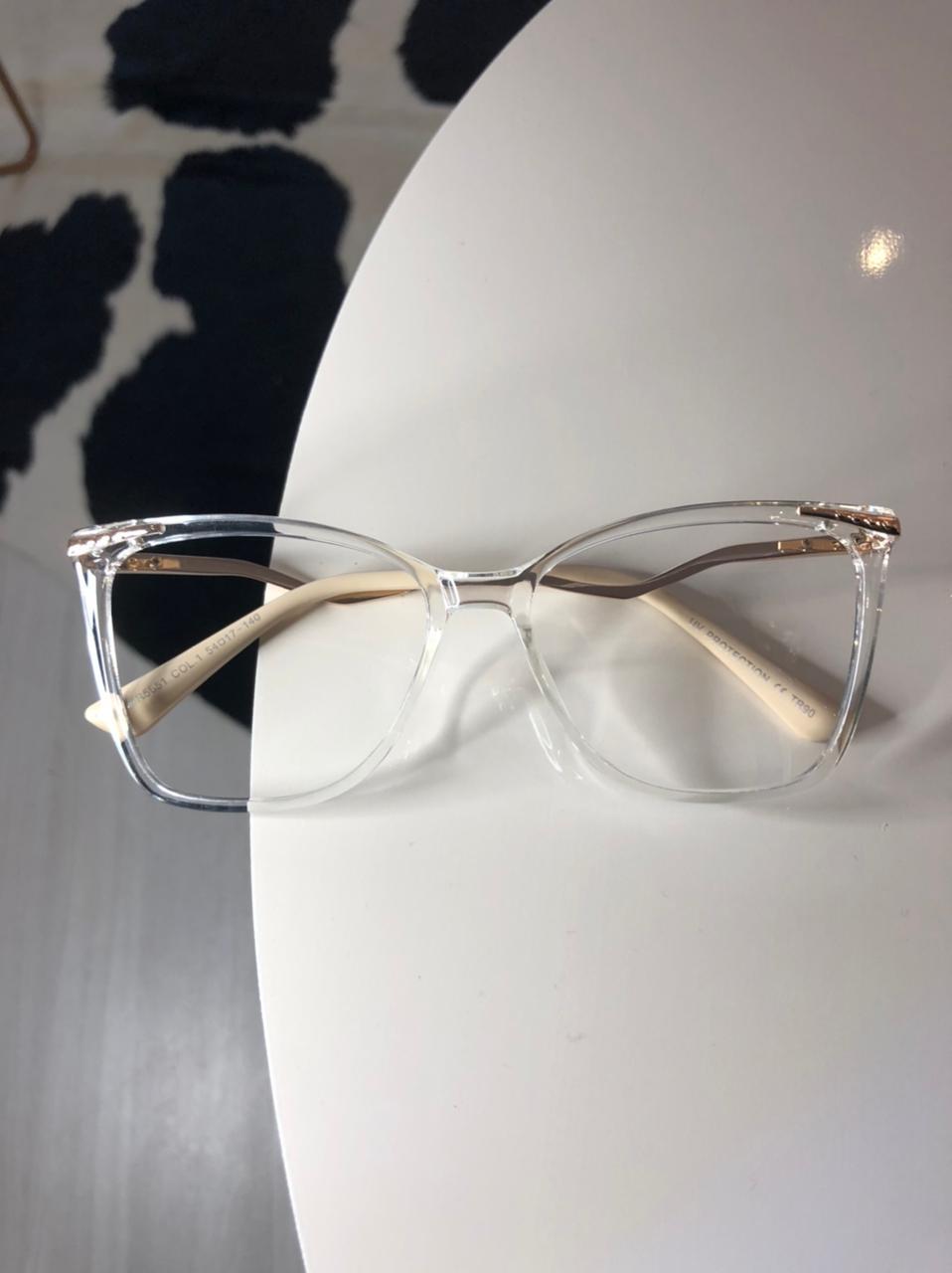 Armação Óculos de Grau Helena Transparente