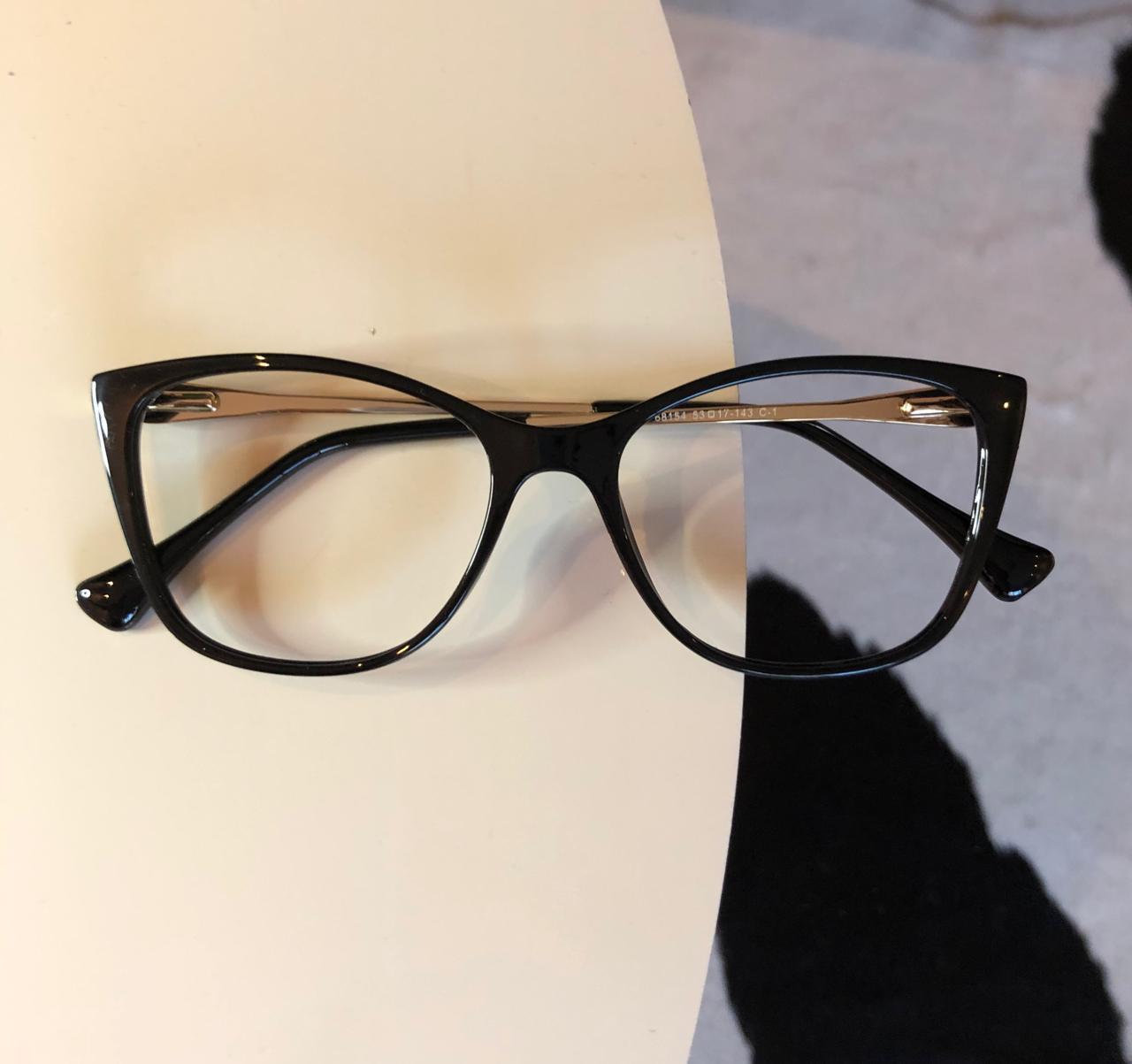 Armação Óculos de Grau Mayla Preto