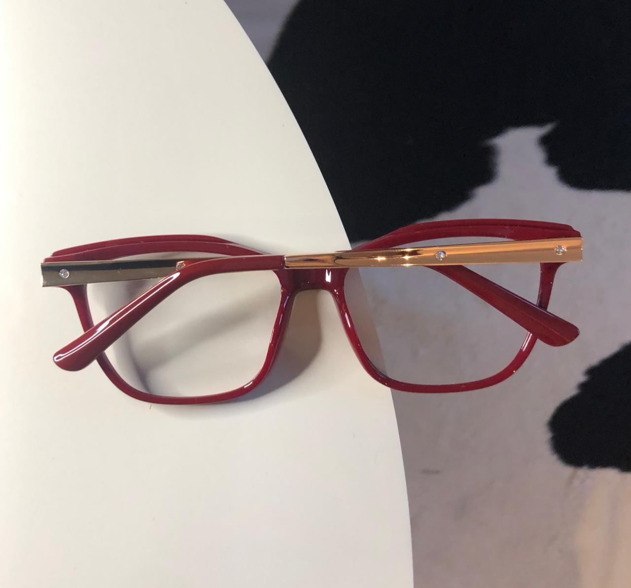 Armação Óculos de Grau Tata Vermelha