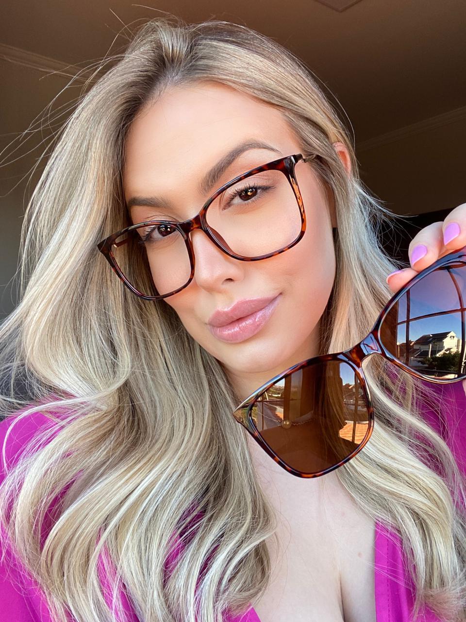 Óculos Clipon 2 em 1 Betina Oncinha