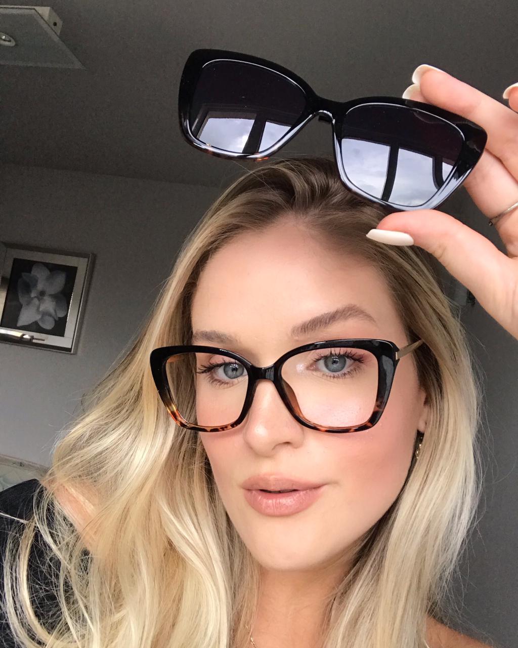 Óculos Clipon 2 em 1 Tácia Oncinha