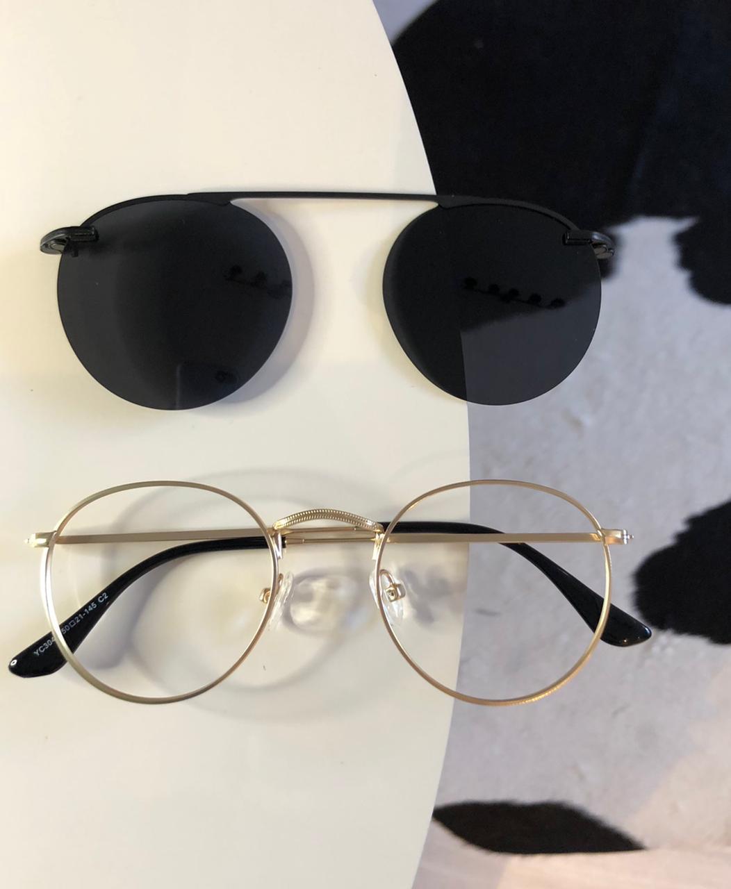 Óculos Clipon 2 em 1 Luma Dourado