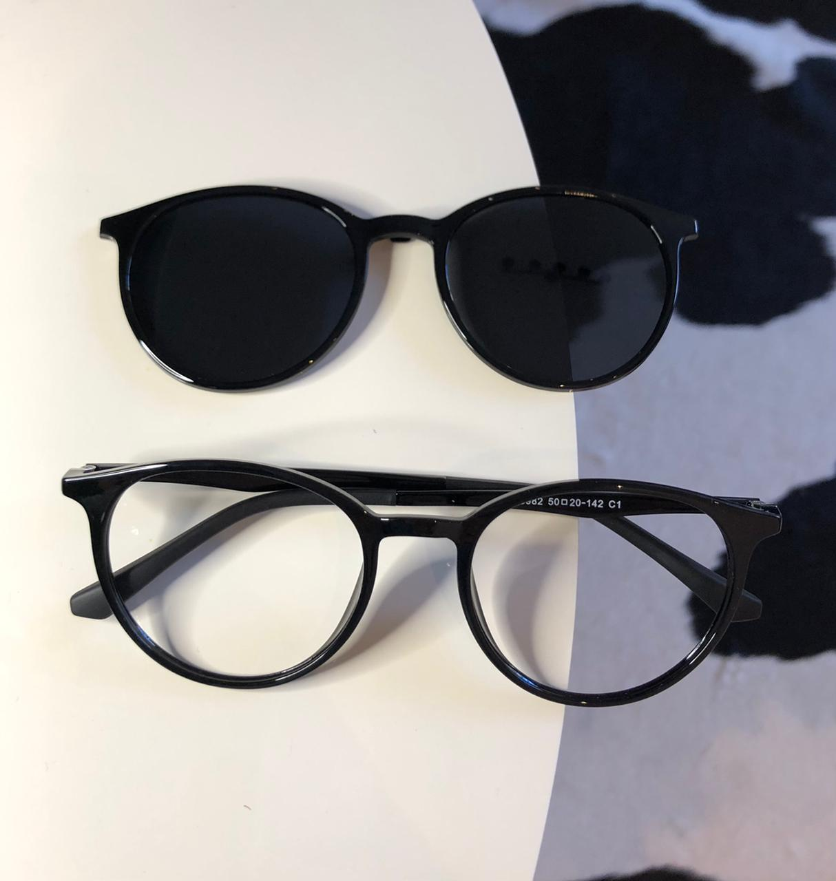 Óculos Clipon 2 em 1 Manu Preto