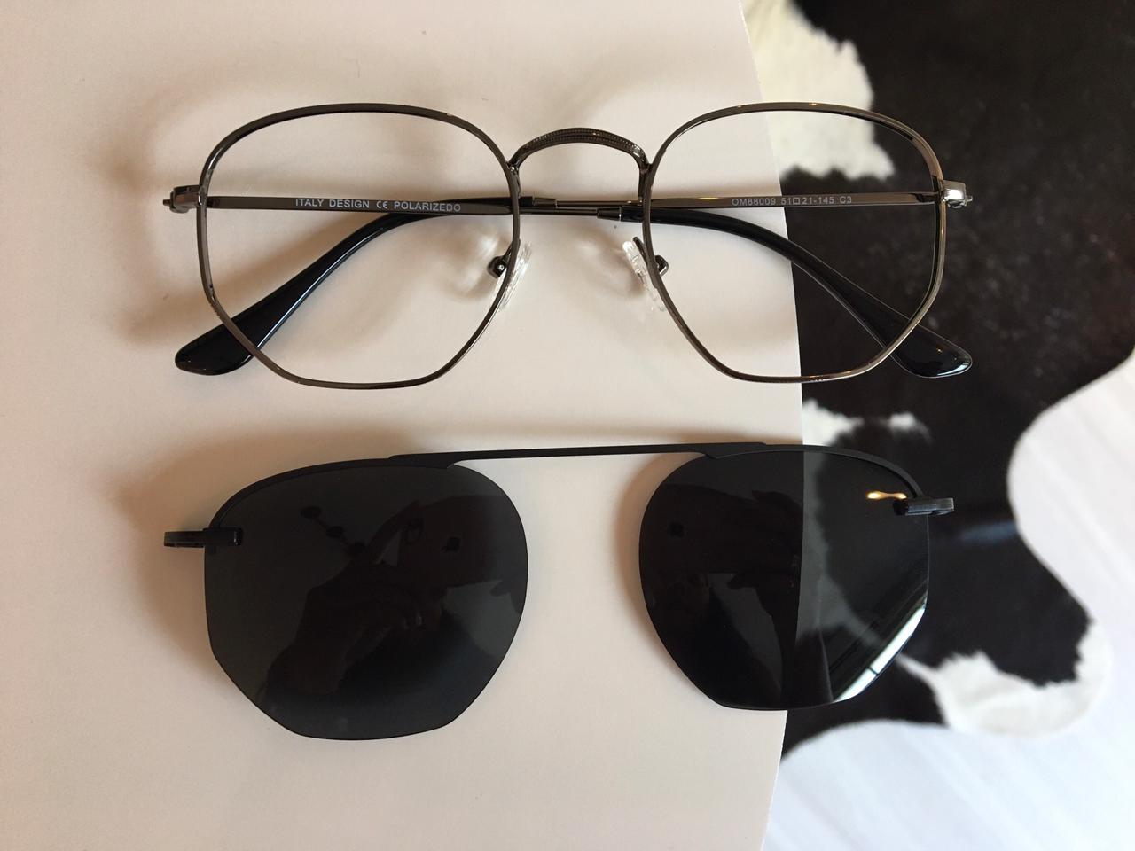 Óculos Clipon 2 em 1 Yasmin Chumbo