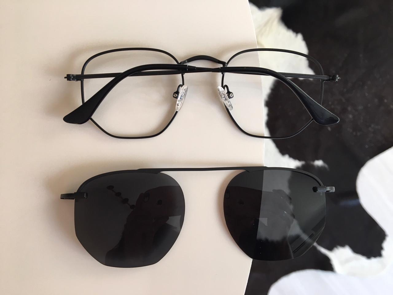Óculos Clipon 2 em 1 Yasmin Preto