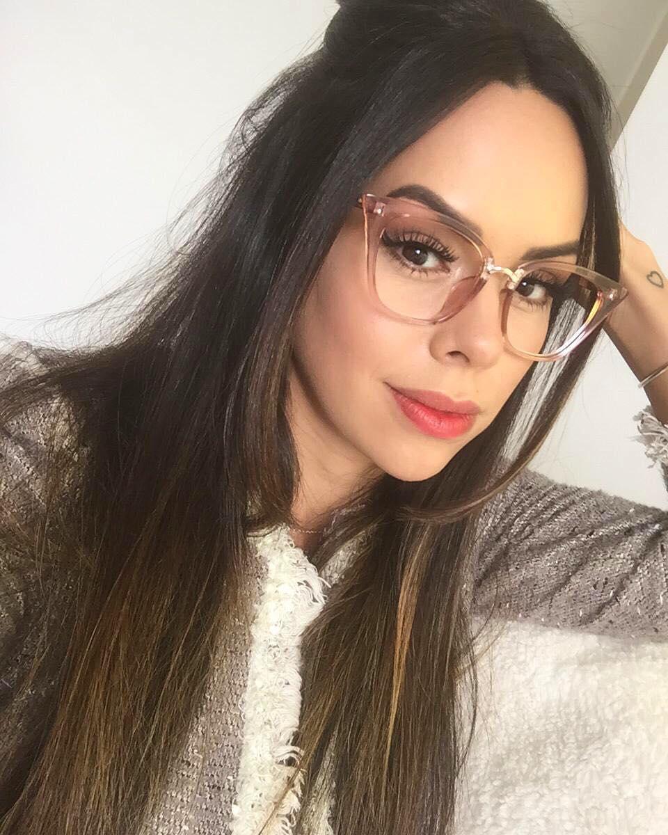 6f8441bb2 Óculos de grau Mika Rosa Transparente | MilluShop