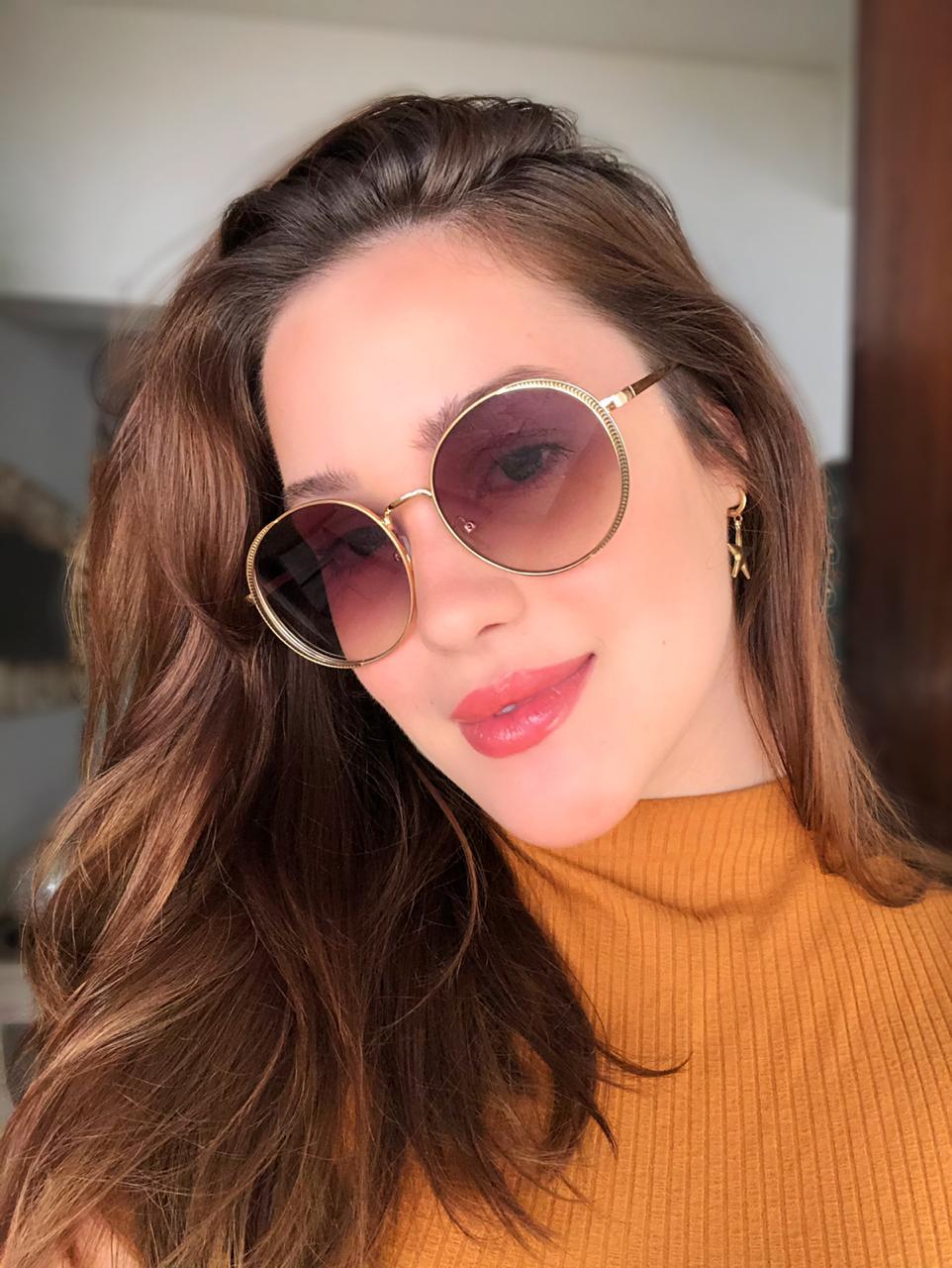 Óculos de sol Larissa Marrom Degrade