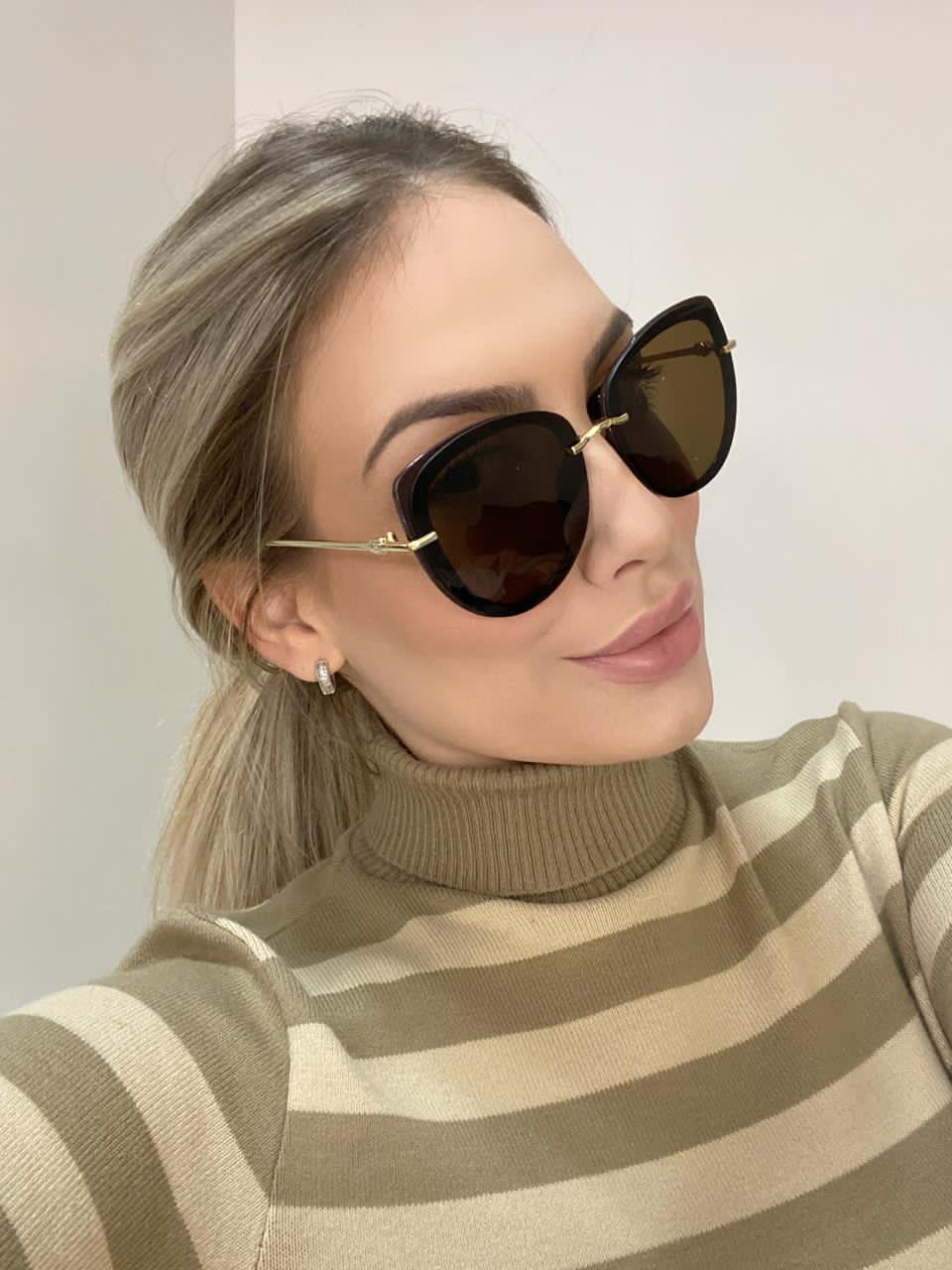 Óculos de Sol Malu Marrom