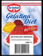 GELATINA DIET MORANGO DR OETKER 100G