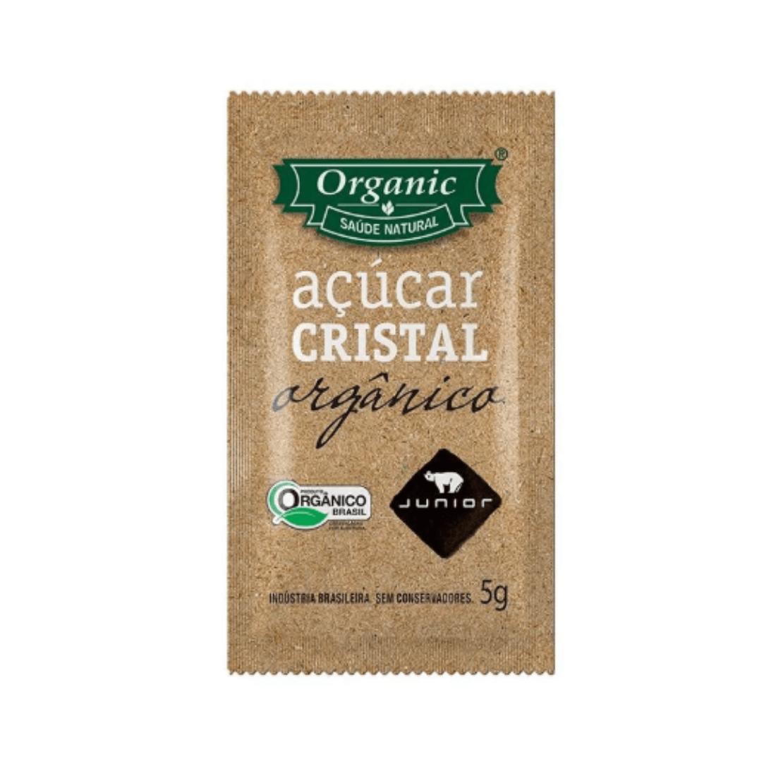 AÇÚCAR CRISTAL ORGÂNICO JUNIOR SACHÊ 5G CAIXA 396 UNIDADES