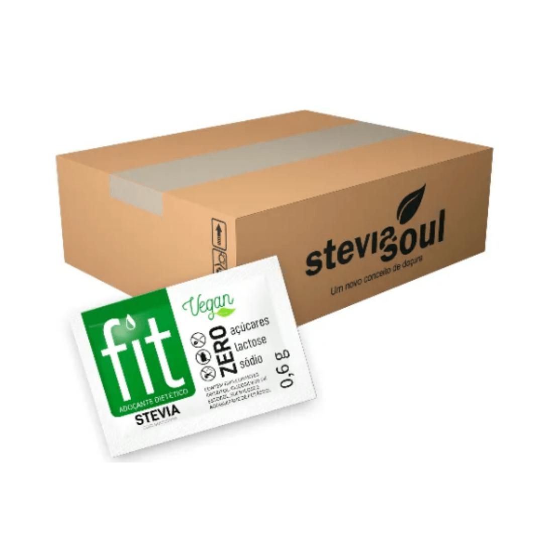 Adoçante Fit Stevia Com Sucralose Sachê 0,6g Caixa 1000 Unidades