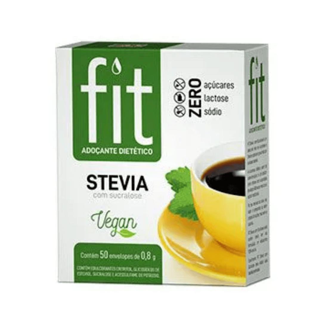 Adoçante Fit Stevia Com Sucralose Sachê 0,6g Caixa 50 Unidades