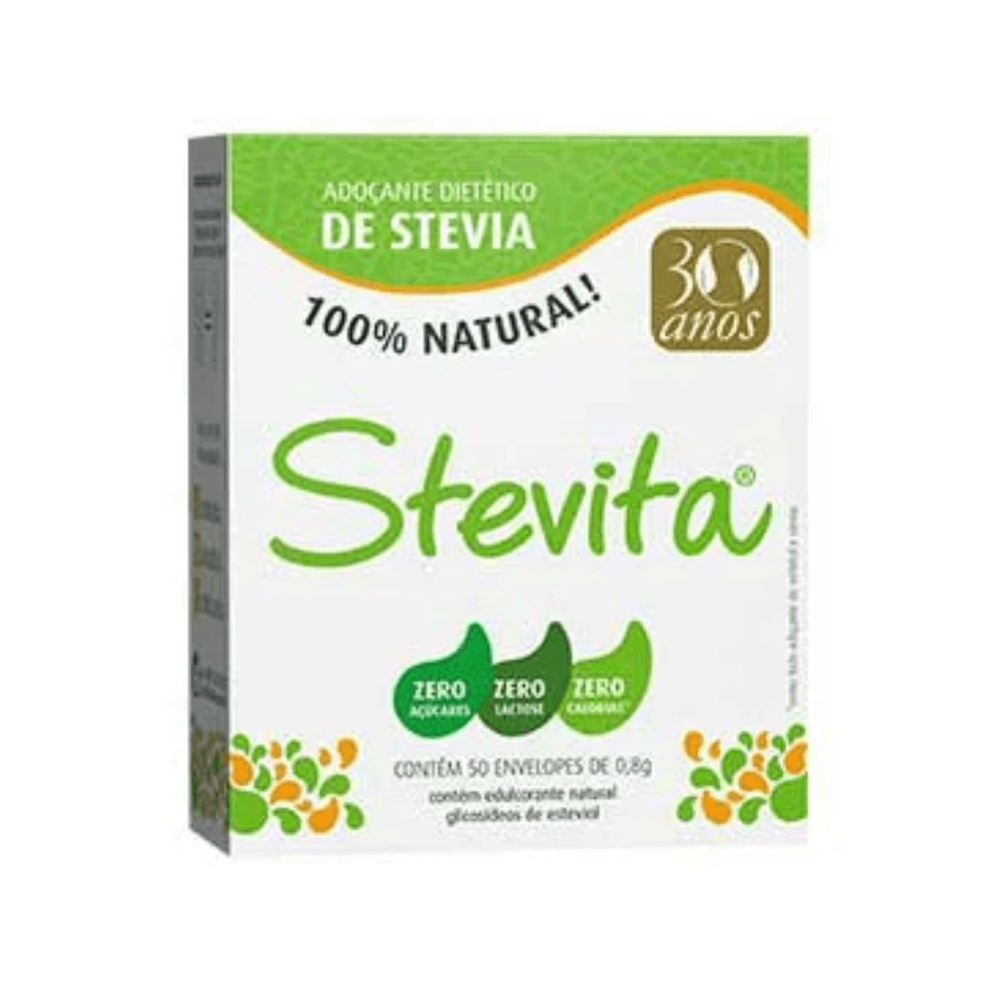 ADOÇANTE STEVIA STEVITA SACHÊ 0,6G CAIXA 50 UNIDADES