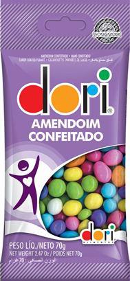 AMENDOIM COLORIDO DORI SACHÊ 70G