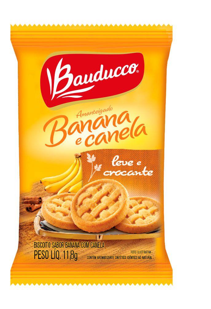 BISCOITO BANANA E CANELA BAUDUCCO SACHÊ 13,9G CAIXA 400 UNIDADES