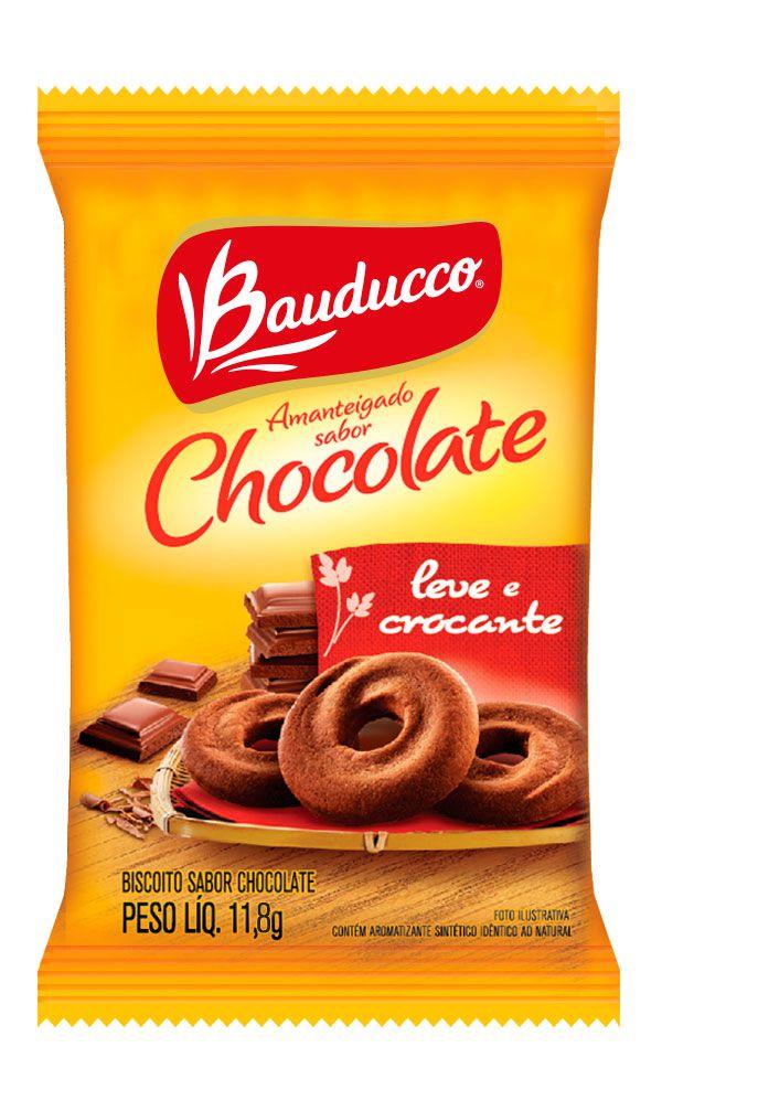 BISCOITO CHOCOLATE BAUDUCCO SACHÊ 11,8G CAIXA 50 UNIDADES