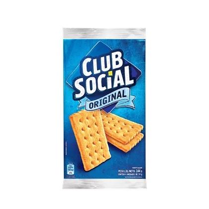BISCOITO CLUB SOCIAL ORIGINAL SACHÊ 24G PACOTE 6 UNIDADES