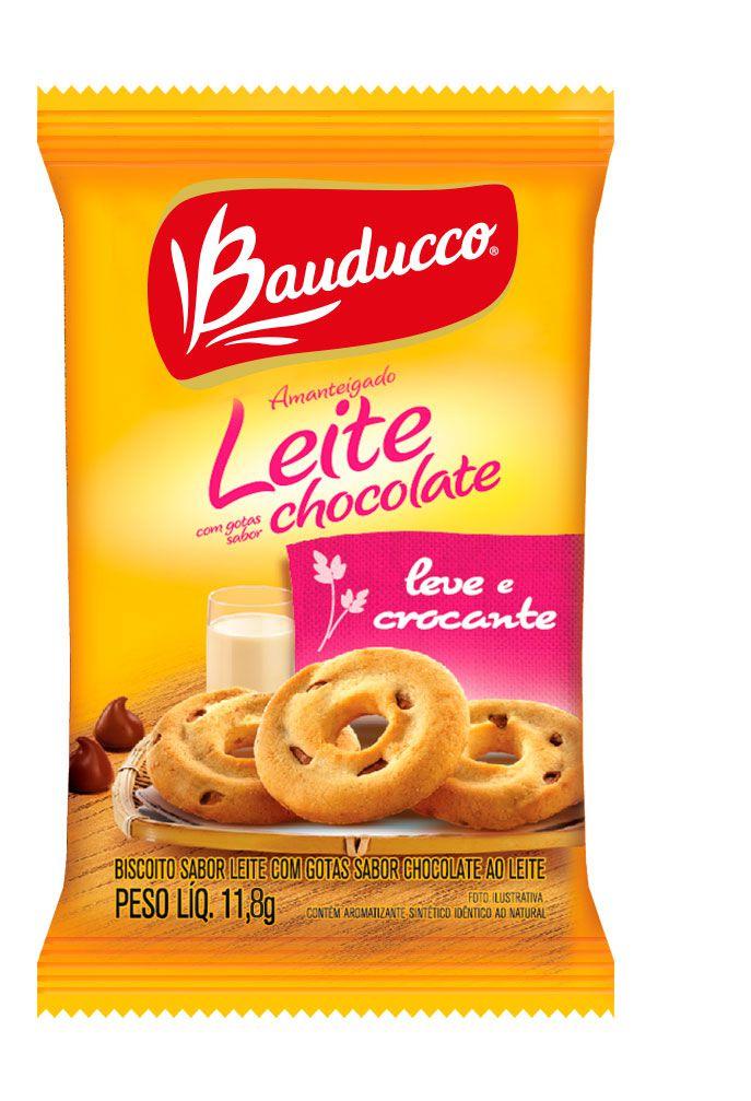 BISCOITO LEITE COM GOTAS DE CHOCOLATE BAUDUCCO SACHÊ 11,8G CAIXA 50 UNIDADES