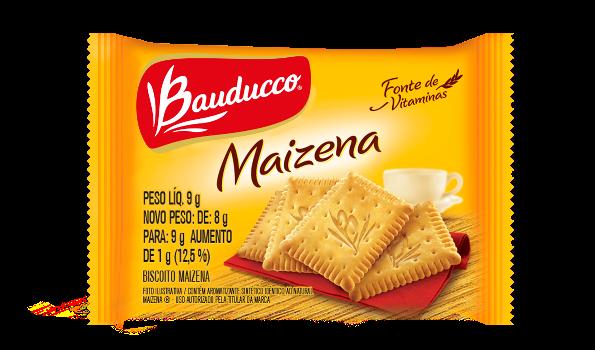 BISCOITO MAIZENA BAUDUCCO SACHÊ 9G CAIXA 50 UNIDADES