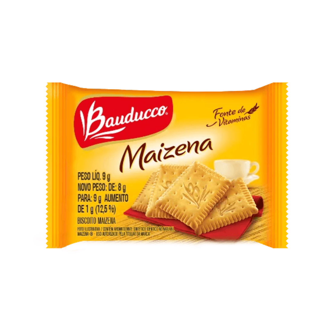 BISCOITO MAIZENA BAUDUCCO SACHÊ 9G CAIXA 410 UNIDADES