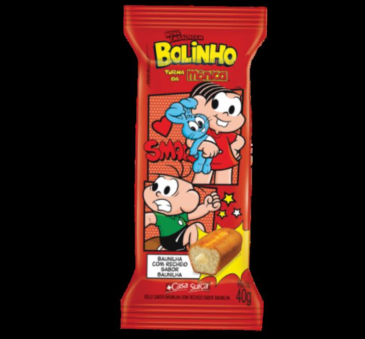 BOLINHO BAUNILHA TURMA DA MÔNICA CASA SUÍÇA 40G 18UN