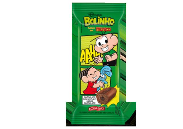 BOLINHO CHOCOLATE TURMA DA MÔNICA CASA SUÍÇA 40G 18UN