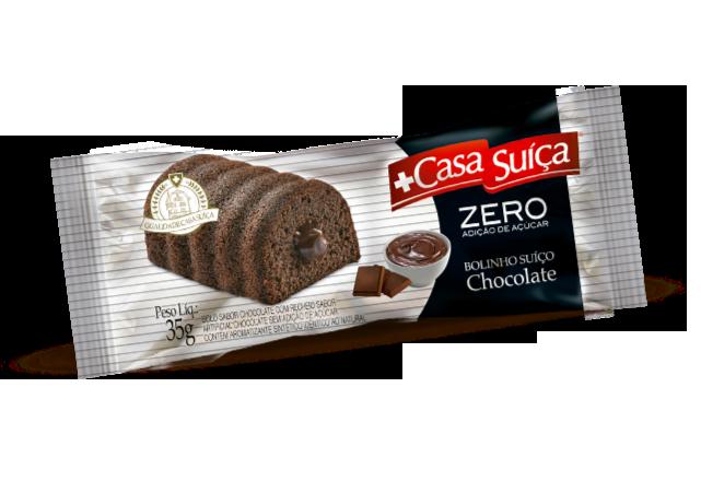 BOLINHO CHOCOLATE ZERO AÇÚCAR CASA SUÍÇA 35G 15UN