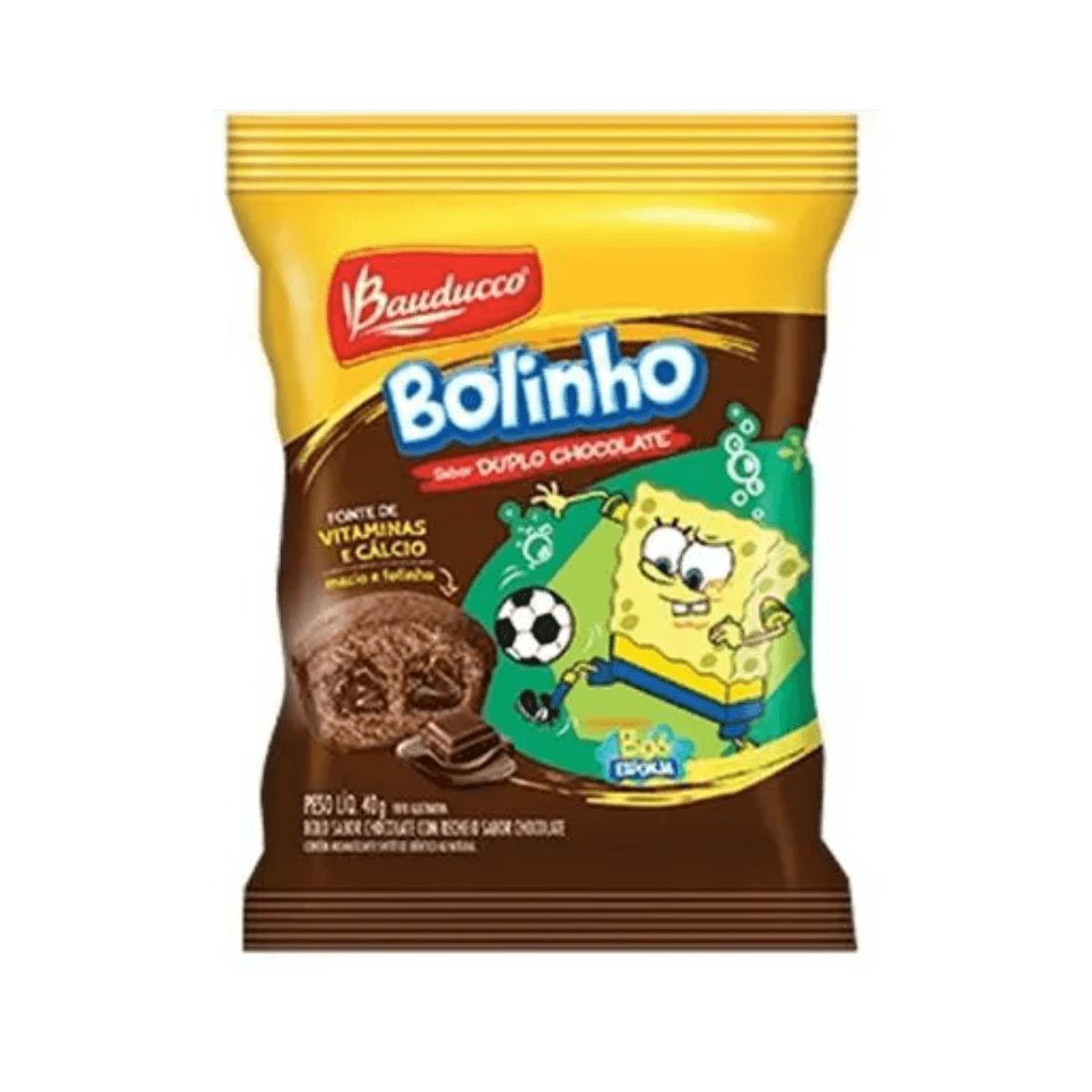BOLINHO DUPLO CHOCOLATE BAUDUCCO 30G CAIXA 14 UNIDADES