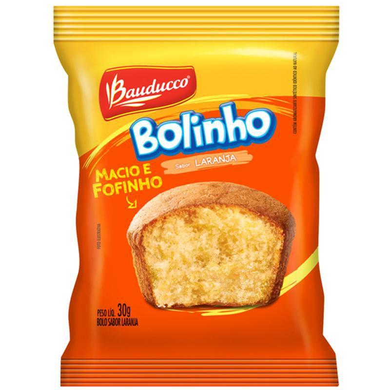 BOLINHO LARANJA BAUDUCCO 30G CAIXA 14 UNIDADES