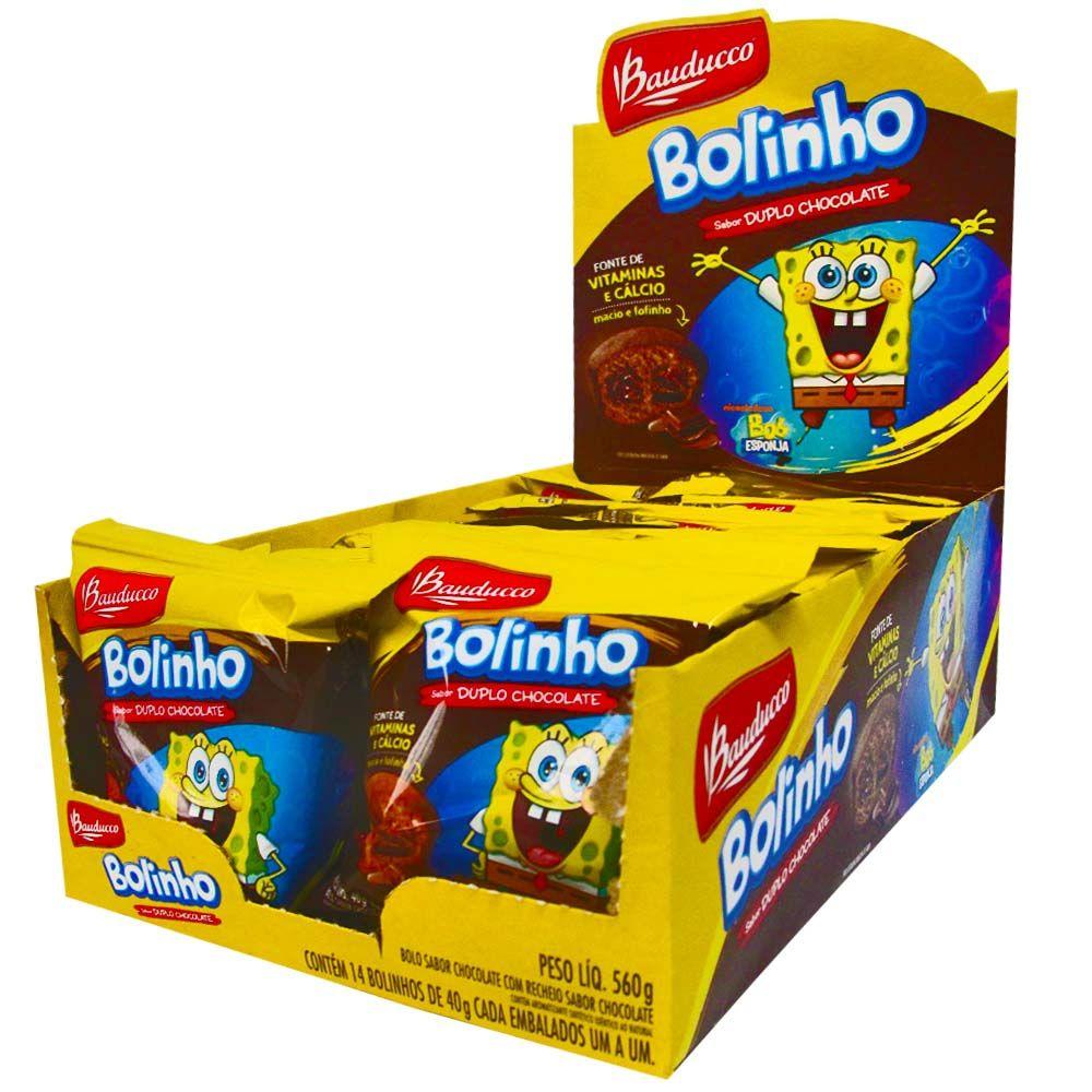 BOLINHO RECHEADO DE CHOCOLATE BAUDUCCO 30G CAIXA 14 UNIDADES