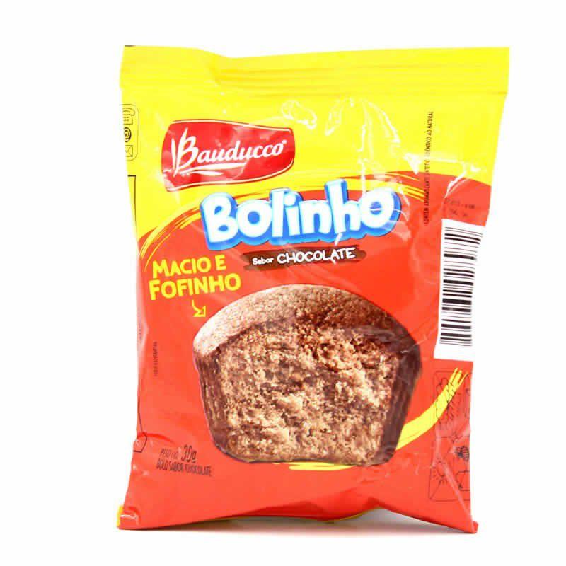 BOLINHO SABOR CHOCOLATE BAUDUCCO 30G CAIXA 14 UNIDADES