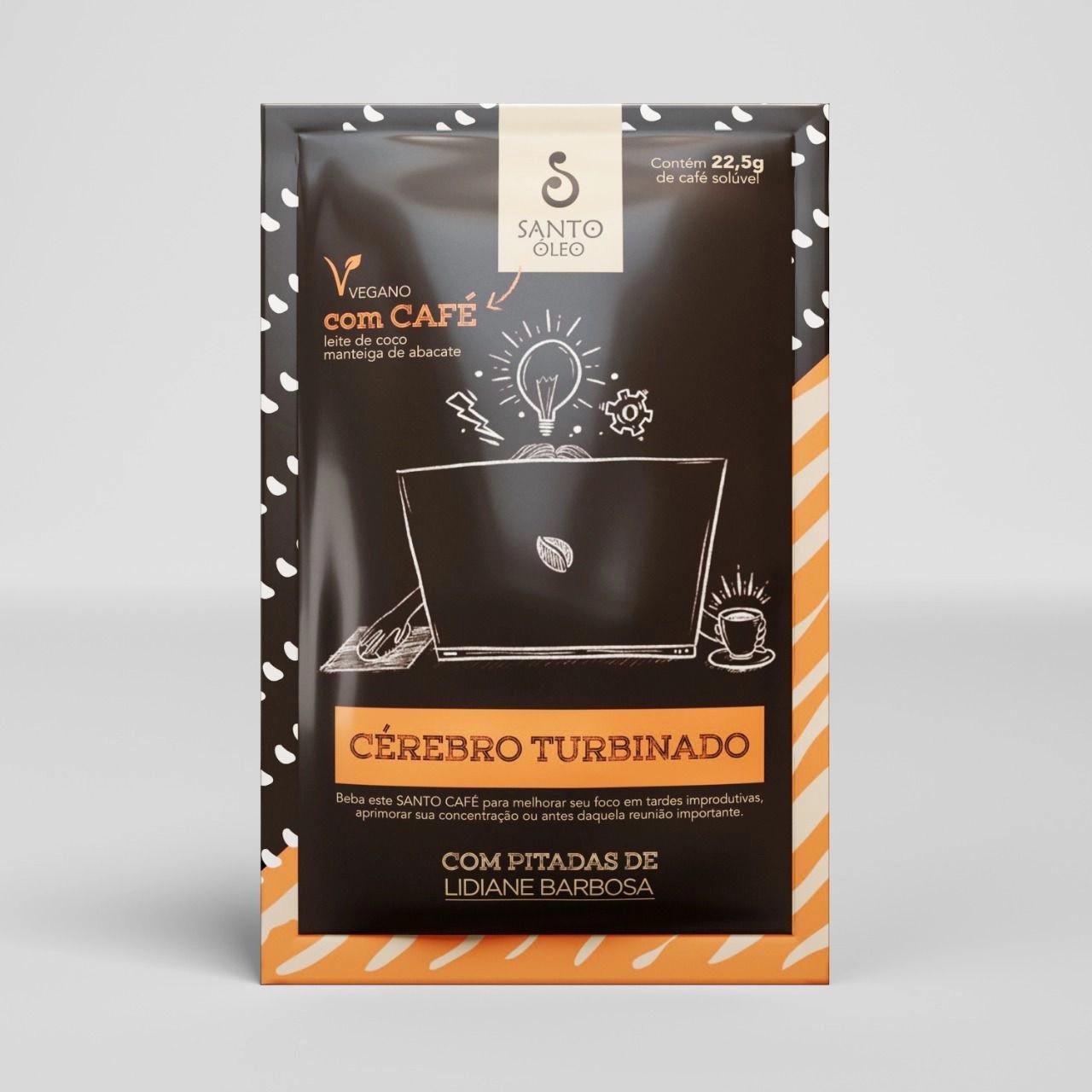CAFÉ SOLÚVEL CÉREBRO TURBINADO SACHÊ 22,5G